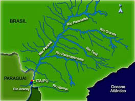 The Official Web Site Of Suspense Novelist Ron Terpening - Parana river map